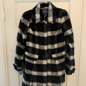 Black plaid ModCloth coat